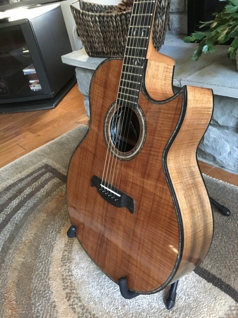 2020 Dan Davis custom acoustic Koa guitar