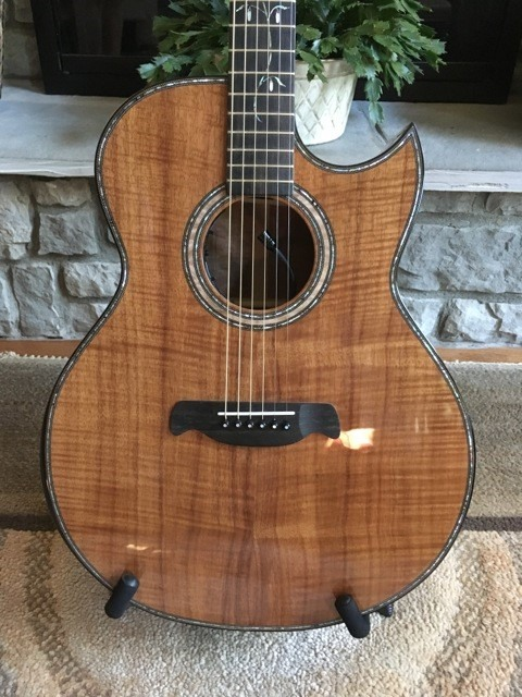 2020 Dan Davis custom Koa acoustic guitar