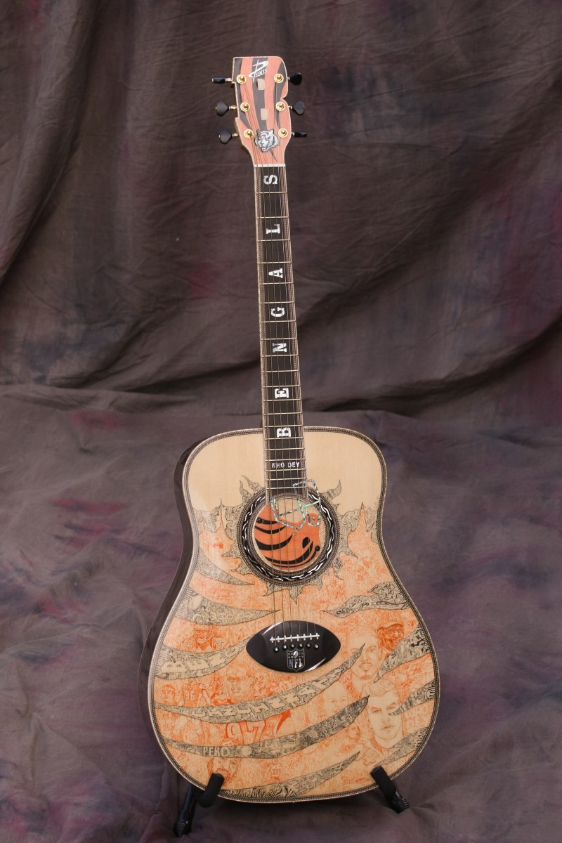 Cincinnati Bengals Custom Guitar 1