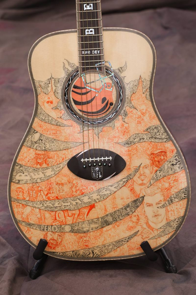 Cincinnati Bengals Custom Guitar 2
