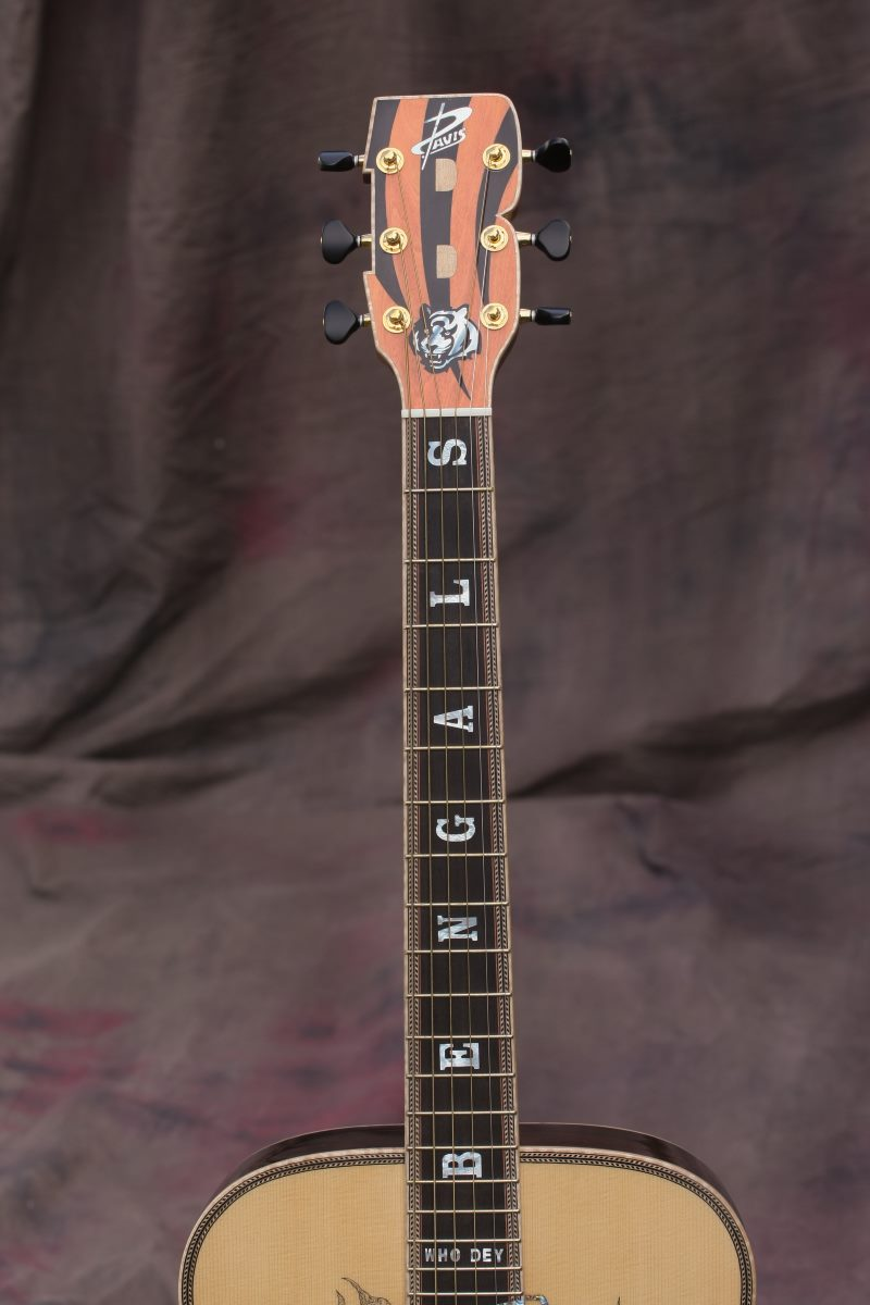 Cincinnati Bengals Custom Guitar 5