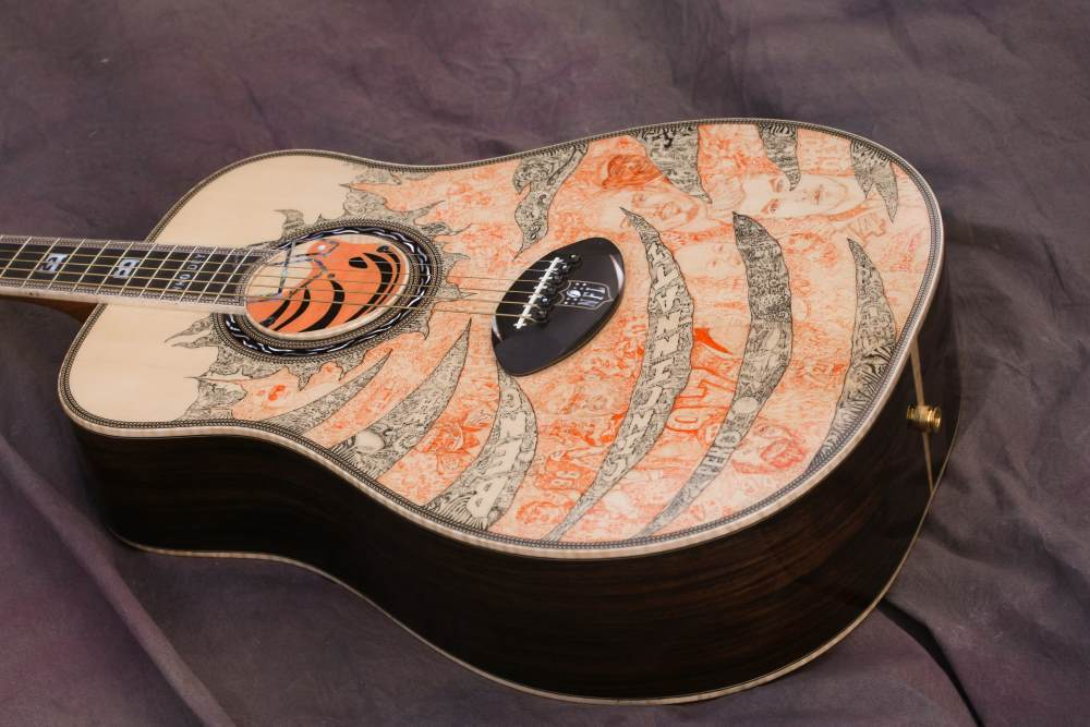 Cincinnati Bengals Custom Guitar 6